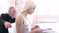 Blonde teen Tanya surprised by the old man's sexual strengthbig 1