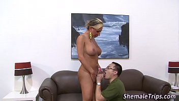 Shemale gets ass rimmed