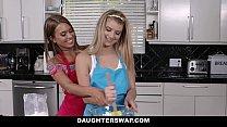 DaughterSwap - hot lesbian teens (Arya Faye) (Jill Kassidy) fuck around before dads get home
