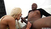 Busty Nina Elle sucks and rides monster black cock