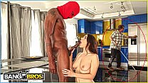 BANGBROS - Valentina Nappi Takes Big Black Dick While Her Blind Father Goes About His Business