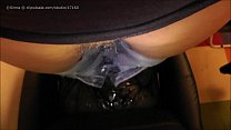 Totally soaking office chair and wetting jeans pee play
