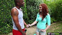 Brokenteens - Redhead cutie gets a big load for her birthday