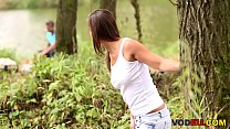 Beautiful young babe Naomi Bennet gets fucked outdoor