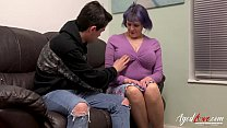 AgedLovE Busty British Mature Fucks Teenage Guy