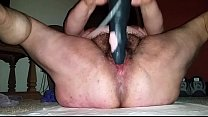 fat chick from BBWCurvy .com rides dildo