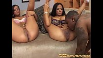 hot threesome for two young girls and a big black dick