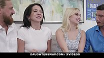 DaughterSwap - Eating Each Other Out To Please Daddies On Fathers Day