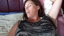 Brunette milf wife showing wedding ring probes her asshole