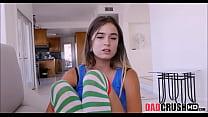 Teen Stepdaughter Sucking Daddy's Big Cock