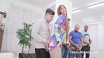 Dirty Talking, Lauren Phillips 4on1 with Big Dicks, Balls Deep Anal, Gapes, DAP, Creampie and Swallow GIO1271