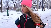 Two thick dicks for snow angel Alyssia Kent makes her cream & scream for more GP787
