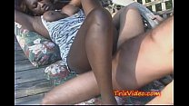 Black Babe FUCKED at a SWINGERS Party in PUBLIC