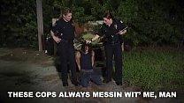 BLACK PATROL - Curvy MILF Police Women Take Advantage Of Black Criminal