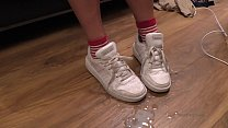 cum on feet and shoes cumpilation cumshot compilation YummyCouple