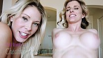 Cheating Busty Milfs Share a Cock on Vacation - Nikki Brooks and Cory Chase