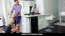 FamilyStrokes - Cutie Fucks Her Step-Cousin While Uncle Works