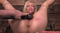Blonde bdsm sub punished with vibrator toying