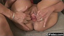 Alluring Sexy Fisting Milf Pounded