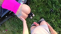 Public Outdoor Fuck Babe with Sexy Butt - Young Amateur Couple POV!