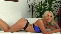 Blonde strips and fucks on casting