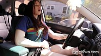 Hot Matilda Masturbating While Driving