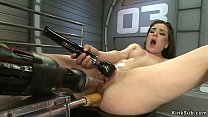 Babe double penetration machine fucked