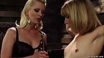 Bound lesbian is spanked and paddled