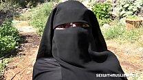 Cum on her niqab
