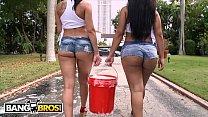 BANGBROS - Curvy Latin Babes Rachel Starr & Rose Monroe Getting Wet