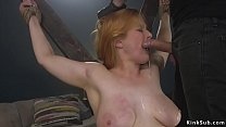 Big ass blonde bdsm anal banged