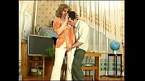 Russian mature teacher wife cheats with her student in classroom (1)