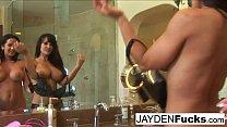 Jayden Jaymes fucks her hot & busty friend Lisa Ann!