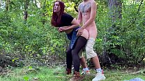 Public sex with pretty redhead wife KleoModel. Amateur video