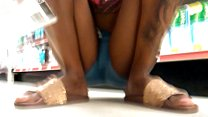 Black pussy Bulging 'squat girl'