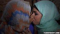 Two arab babes kissing