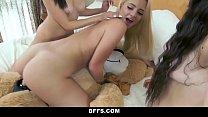 BFFS - Hot Teens Hump Bear During Sleepover