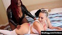 Sex Fiend Nina Kayy Strapon Fucked By Black BBW Jalisa Elite