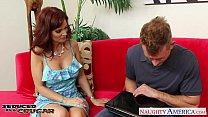 Busty brunette cougar Syren De Mer take cock