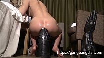 Sexy Blonde Wrecks the Butt with Huge Toy