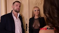 Super sexy XXX babes Alyssia Kent & Liya Silver share dude's big hard cock GP732