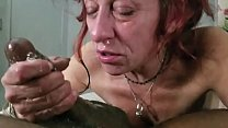 Old Crack Whore Throats BBC and Sprays Snot & Cum From Nose & Mouth