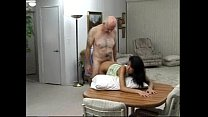 Sexy latina teen fucked by an old man