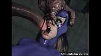 Monsters Wrecking Poor 3D Girls!