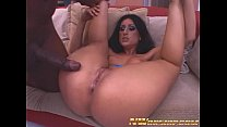 latina girl with round ass rides big black cock for interracial porn