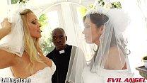 EvilAngel Francesca Le Interracial Ass Fucking Threesome