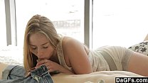 Cute Blonde Teen Helps Him Have A Good Morning