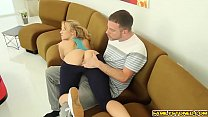 Cock hungry Bailey Brooke sucks step bro deep throat