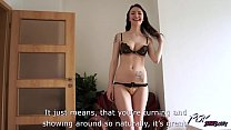 Belle Claire takes huge creampie from naughty stranger