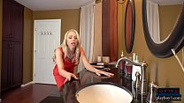 Mature wife Katie Morgan cheats in restaurant bathroom